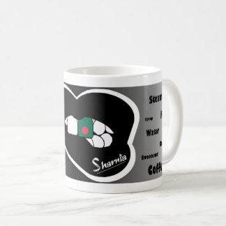 Sharnias Lippenbangladesch-Tasse (Schwarz-Lippe) Kaffeetasse