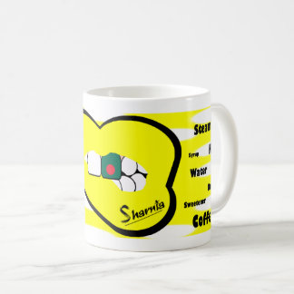 Sharnias Lippenbangladesch-Tasse (YEL Lippe) Kaffeetasse