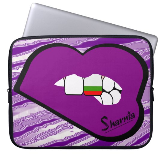 Sharnias Lippenbulgarien-Laptop-Hülsen-lila Lippen Laptop Sleeve Schutzhülle
