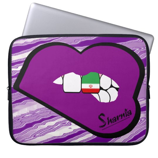 Sharnias Lippender iran-Laptop-Hülse (lila Lippen) Computer Sleeve Schutzhülle