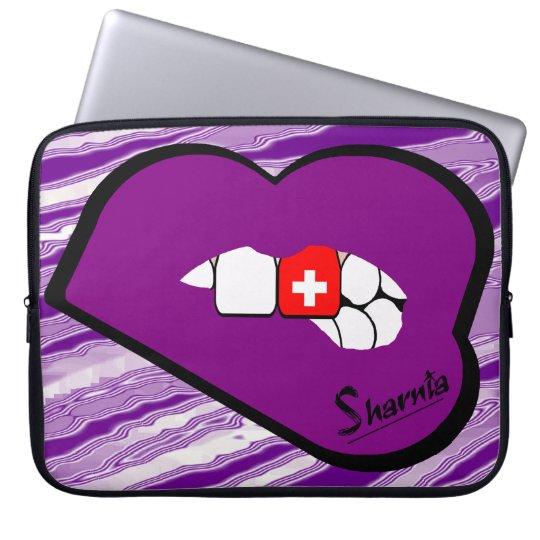 Sharnias Lippendie schweiz-Laptop-Hülse Prple Laptop Sleeve