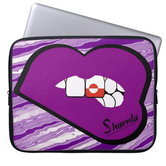 Sharnias Lippengrönland-Laptop-Hülsen-lila Lippe Laptopschutzhülle