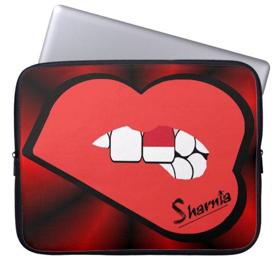 Sharnias Lippenindonesien-Laptop-Hülse (rote Laptop Sleeve