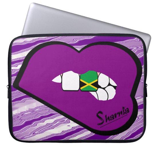Sharnias Lippenjamaika-Laptop-Hülse (lila Lippen) Computer Sleeve Schutzhüllen