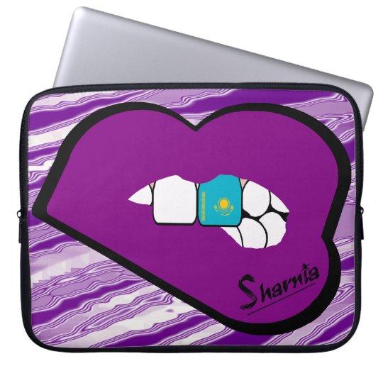 Sharnias Lippenkasachstan-Laptop-Hülsen-lila Lippe Computer Sleeve Schutzhüllen