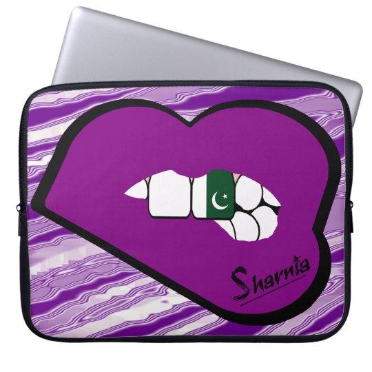 Sharnias Lippenpakistan-Laptop-Hülsen-lila Lippen Laptopschutzhülle