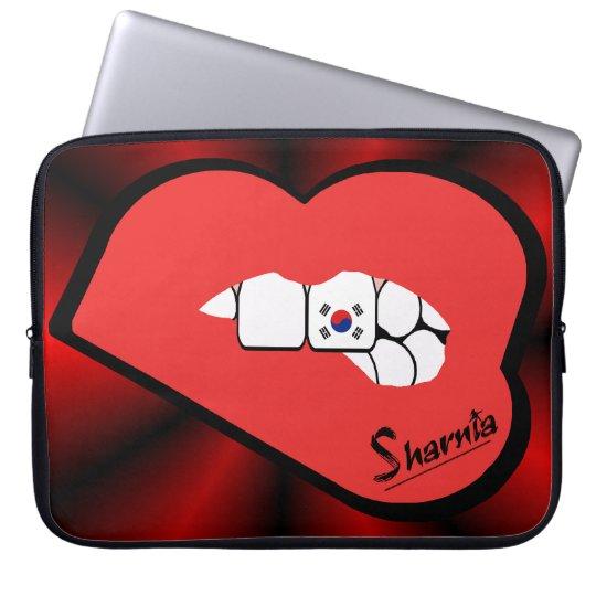 Sharnias Lippensüdkorea-Laptop-Hülsen-Rot-Lippen Laptopschutzhülle