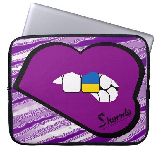 Sharnias Lippenukraine-Laptop-Hülse (lila Lippen) Laptop Sleeve