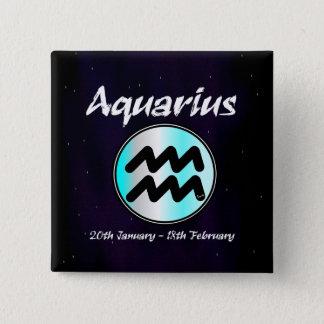 Sharnias Wassermann-Quadrat-Abzeichen Quadratischer Button 5,1 Cm
