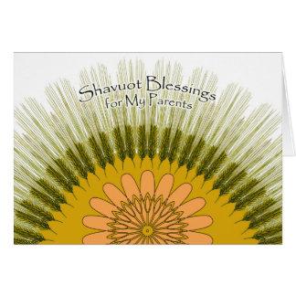 Shavuot Segen für meine Eltern, Gerste Sun Karte