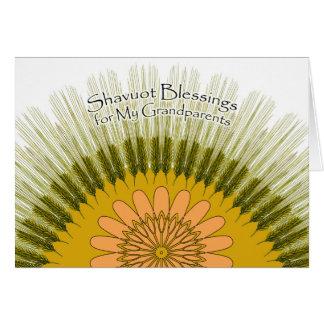 Shavuot Segen für meine Großeltern, Gerste Sun Karte