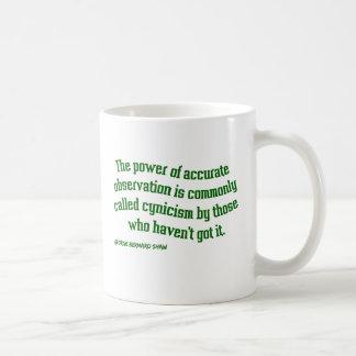 Shaw auf Zynismus Kaffeetasse