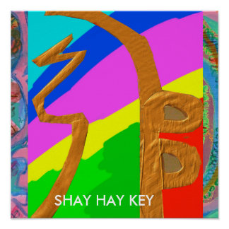 SHAYHAYKEY Gold - grundlegendes Reiki Symbol Poster