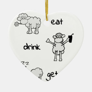 sheeps life 2 keramik Herz-Ornament