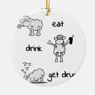 sheeps life 2 keramik ornament