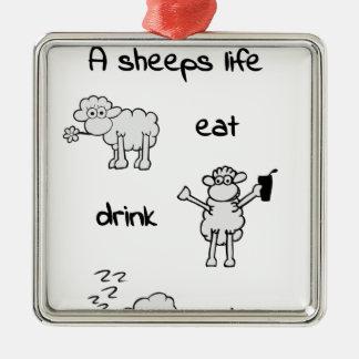 sheeps life thursday silbernes ornament