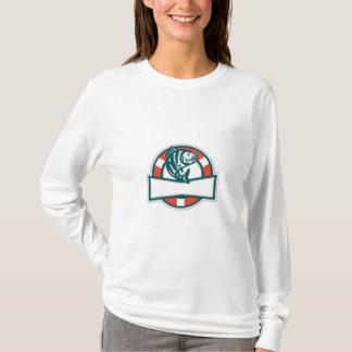 Sheepshead-Fisch-springender Lebensretter-Kreis T-Shirt