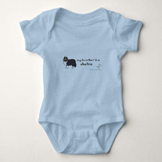 sheltie baby strampler