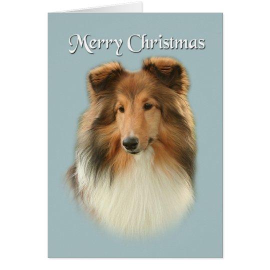 Sheltie Weihnachtskarte Grußkarte