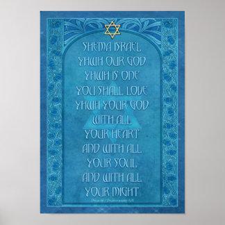 Shema Israel Deko-Plakat Poster