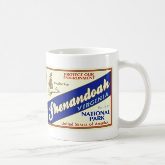 Shenandoah Nationalpark (Specht) Kaffeetasse