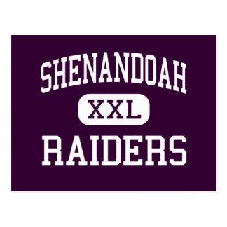 Shenandoah - Räuber - hoch - Middletown Indiana Postkarte