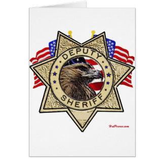 Sheriff-Abgeordneter Abzeichen Karte