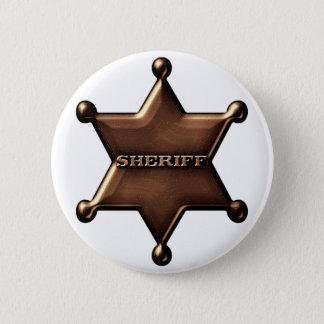 Sheriff-Abzeichen-Knopf Runder Button 5,7 Cm