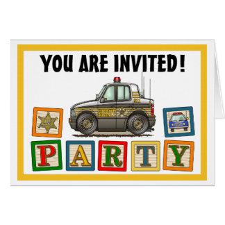 Sheriff-Auto-Party Einladung