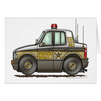 Sheriff-Auto-Streifenwagen-Gesetzesvollstreckung Karte