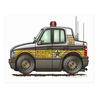 Sheriff-Auto-Streifenwagen-Gesetzesvollstreckung Postkarte
