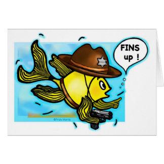 Sheriff-Fische - lustige niedliche Sparky Karte