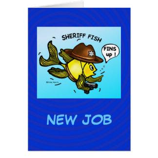 SHERIFF-FISCHE - lustiger niedlicher Sparky Karte