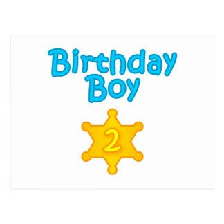 Sheriff-Geburtstags-Junge 2 Postkarte