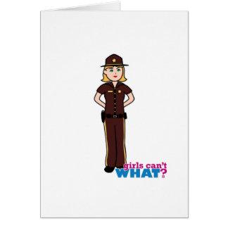 Sheriff-Mädchen Karte