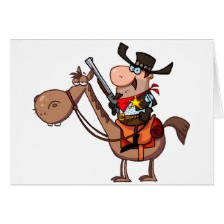 Sheriff mit Gewehr auf Pferd Karte