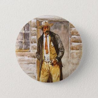 Sheriff-Porträt durch Seltzer, Vintager Westcowboy Runder Button 5,7 Cm