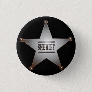 Sheriff Runder Button 2,5 Cm