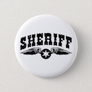 Sheriff Runder Button 5,1 Cm