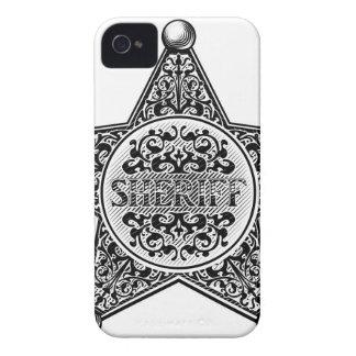 Sheriff-Stern-Abzeichen gravierte Art iPhone 4 Etuis