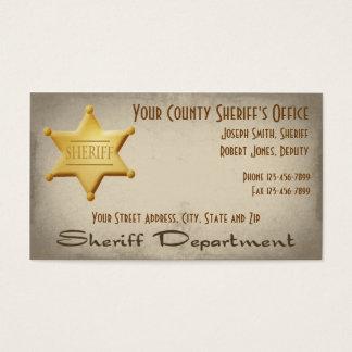Sheriff-Visitenkarte Visitenkarte