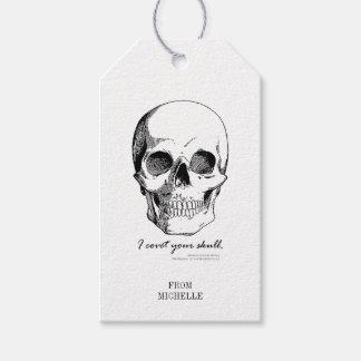 Sherlock-Zitat begehre ich Ihre Schädel-gotischen Geschenkanhänger