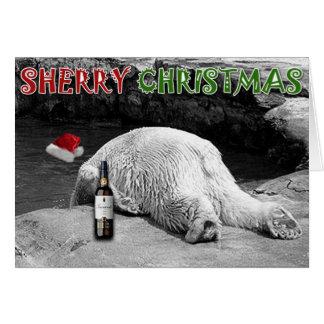 Sherry-Weihnachten Schwarzweiss Karte