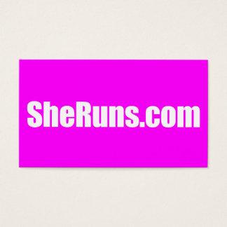 SheRuns.com-Visitenkarten Visitenkarte