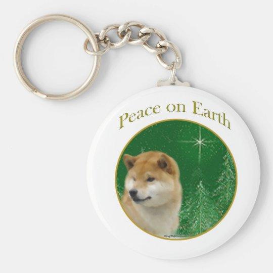Shiba Inu Frieden Schlüsselanhänger