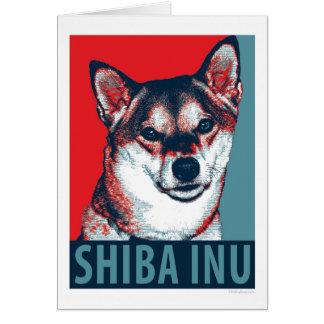Shiba Inu Hoffnungs-politische Parodie Grußkarte