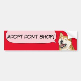 Shiba Inu Liebe adoptieren einen Schutz-Hund! Autoaufkleber