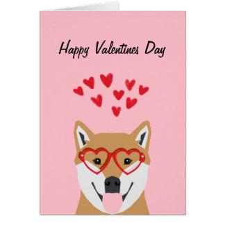 Shiba Inu Valentines-Liebe-Karte Karte