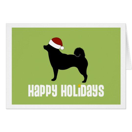Shiba Inu Weihnachtsmannmütze Karte