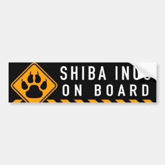 Shiba Inus an Bord Autoaufkleber